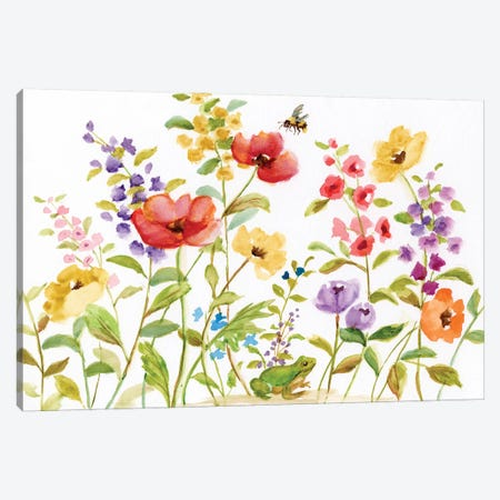 Garden Frog Canvas Print #NAN222} by Nan Canvas Artwork