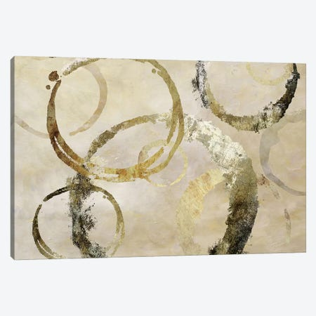 Golden Rings Canvas Print #NAN223} by Nan Canvas Artwork