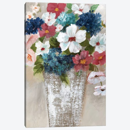 Linen Bouquet I Canvas Print #NAN228} by Nan Canvas Artwork
