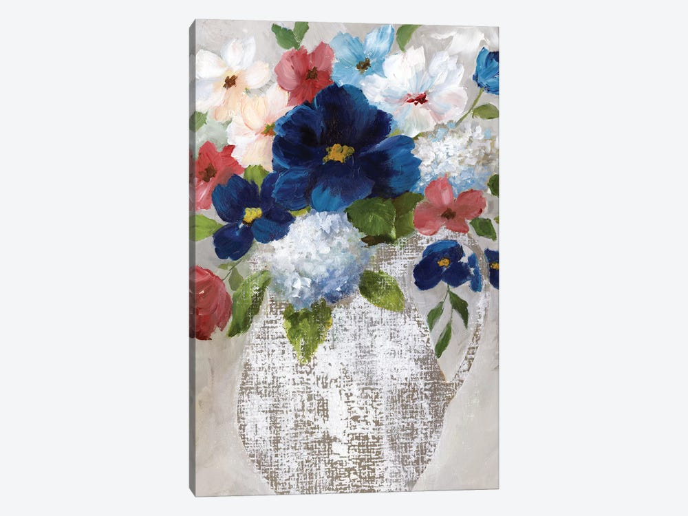 Linen Bouquet II by Nan 1-piece Canvas Artwork