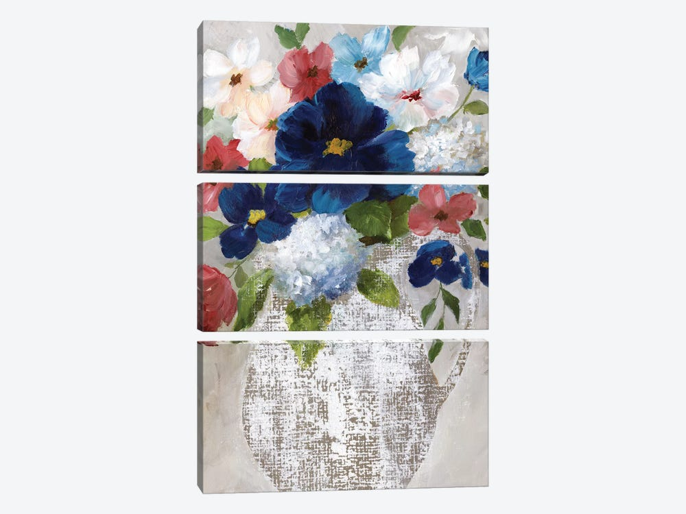 Linen Bouquet II by Nan 3-piece Canvas Wall Art