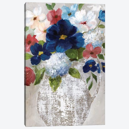 Linen Bouquet II Canvas Print #NAN229} by Nan Canvas Art