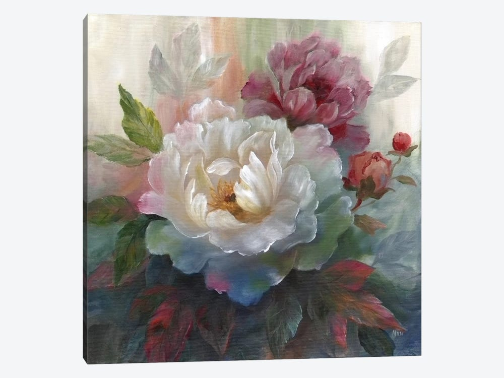 White Roses I by Nan 1-piece Canvas Art