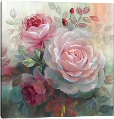 White Roses II Canvas Art Print
