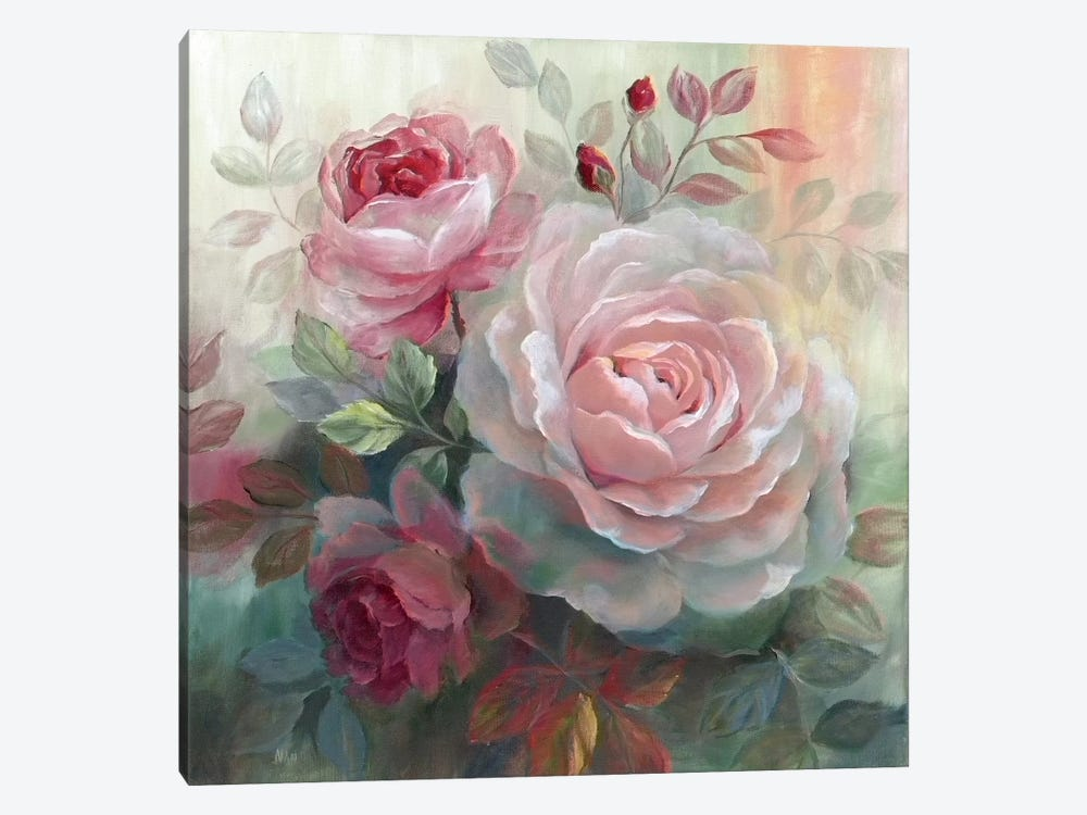 White Roses II by Nan 1-piece Art Print