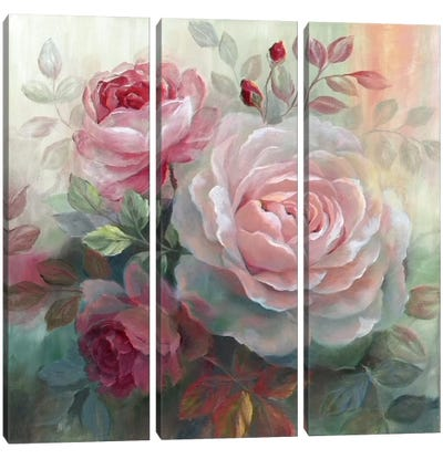 White Roses II Canvas Art Print