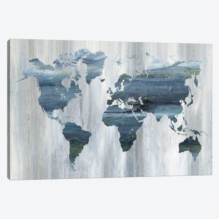 Textural World Map Canvas Print #NAN245} by Nan Art Print