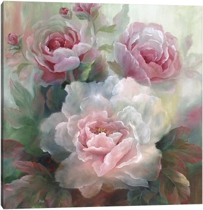 White Roses III Canvas Art Print