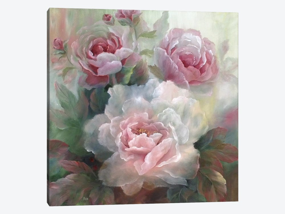 White Roses III by Nan 1-piece Canvas Wall Art