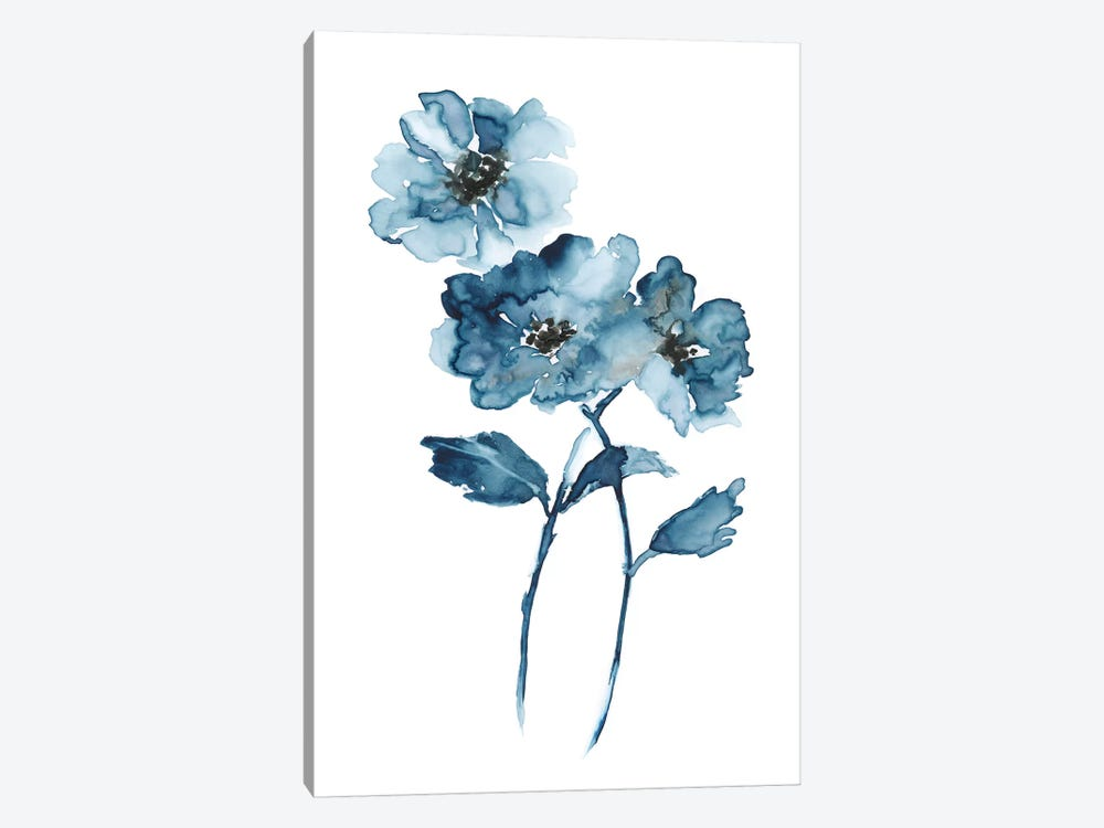 Blue Botanique II by Nan 1-piece Canvas Print
