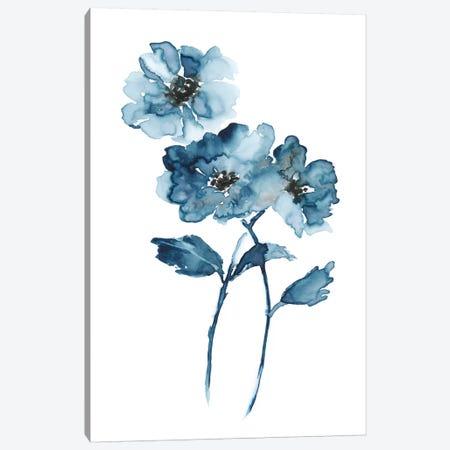 Blue Botanique II 3-Piece Canvas #NAN251} by Nan Art Print
