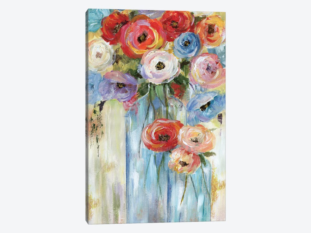 Bottles And Blooms by Nan 1-piece Canvas Art