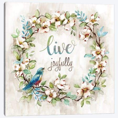 Live Joyfully Canvas Print #NAN254} by Nan Canvas Wall Art