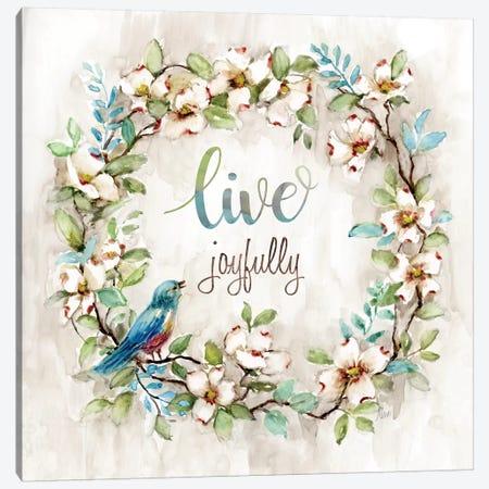 Live Joyfully Canvas Print #NAN254} by Nan Canvas Wall Art