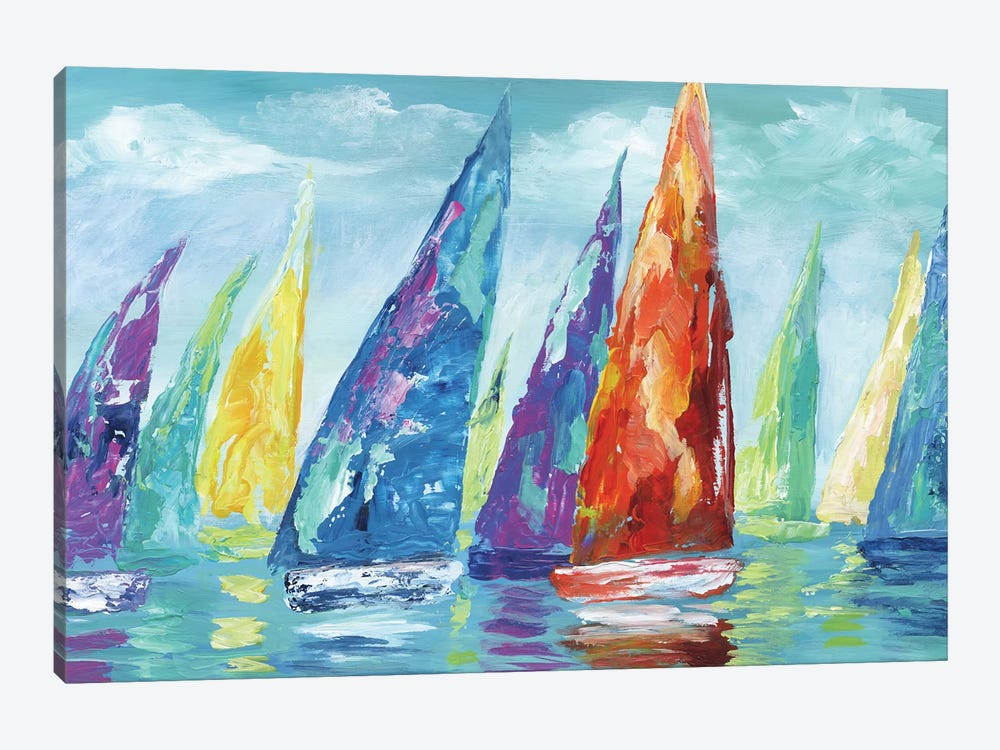Fine Day Sailing II by Nan 1-piece Canvas Art Print