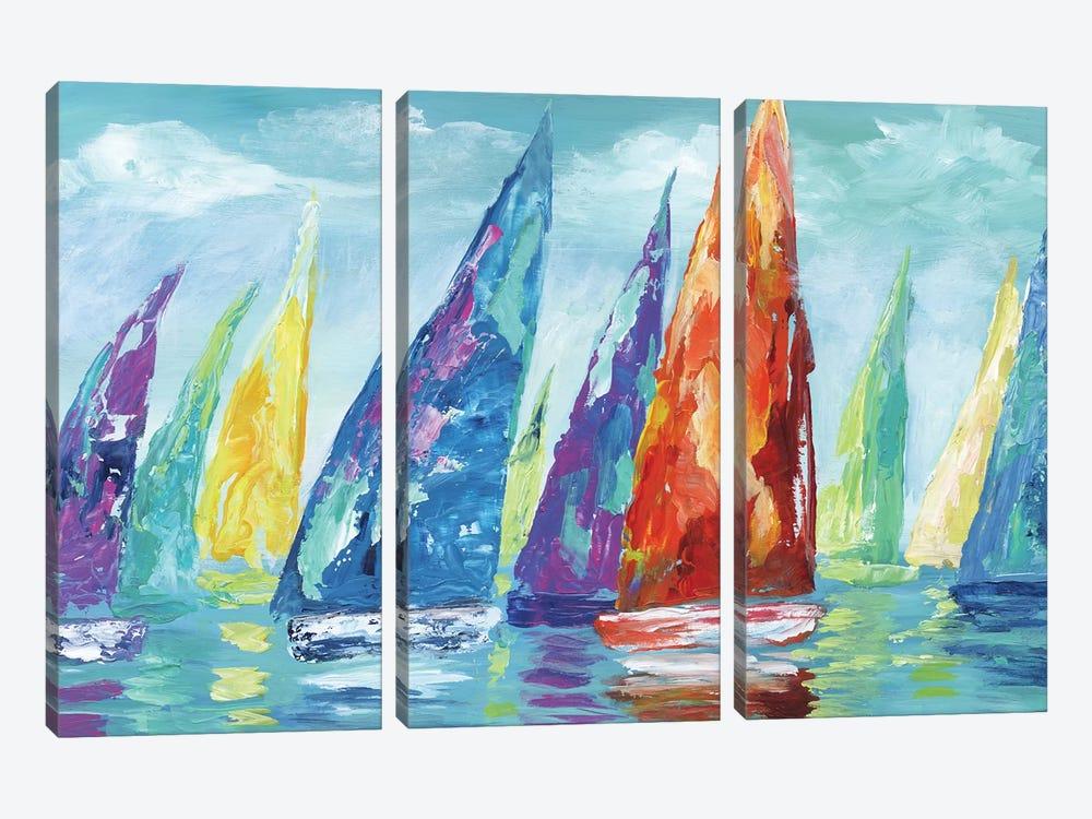 Fine Day Sailing II by Nan 3-piece Canvas Art Print