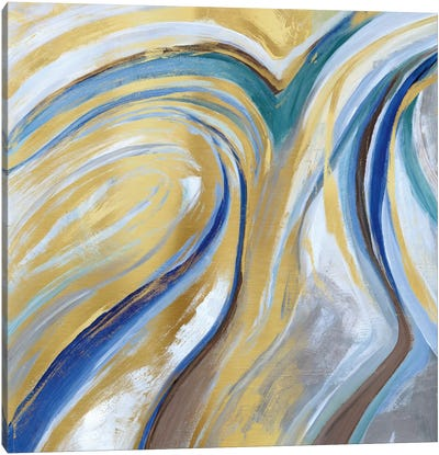 Agate & Gold I Canvas Art Print