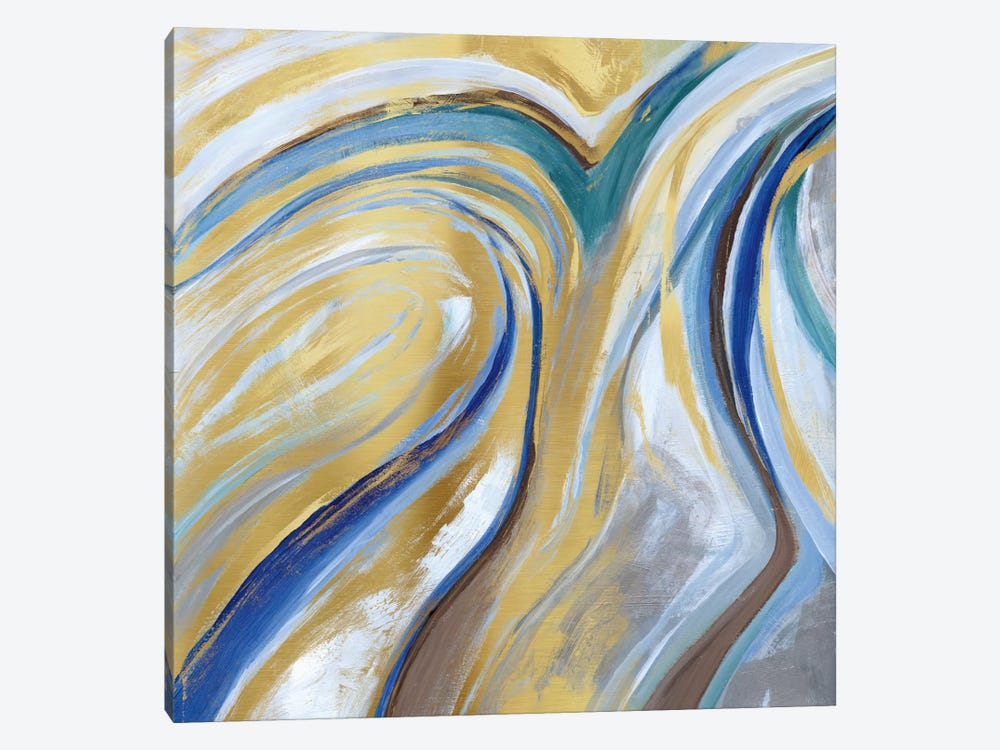 Agate & Gold I by Nan 1-piece Canvas Artwork