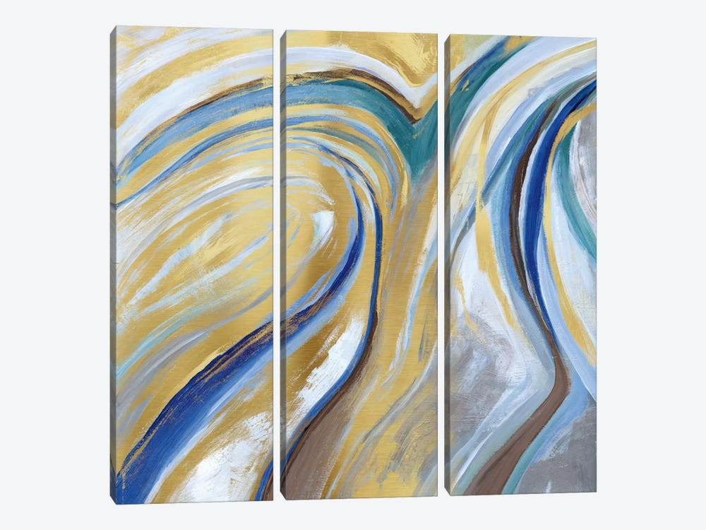 Agate & Gold I by Nan 3-piece Canvas Wall Art