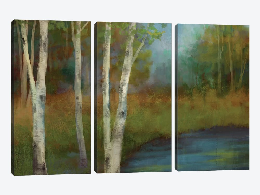 Beside The Still Waters 3-piece Canvas Art Print
