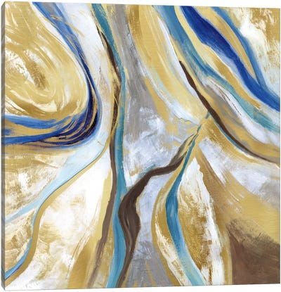 Agate & Gold II Canvas Art Print