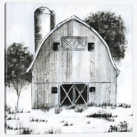 Black & White Barn I Canvas Print #NAN281} by Nan Canvas Art