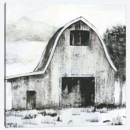 Black & White Barn II Canvas Print #NAN282} by Nan Canvas Wall Art