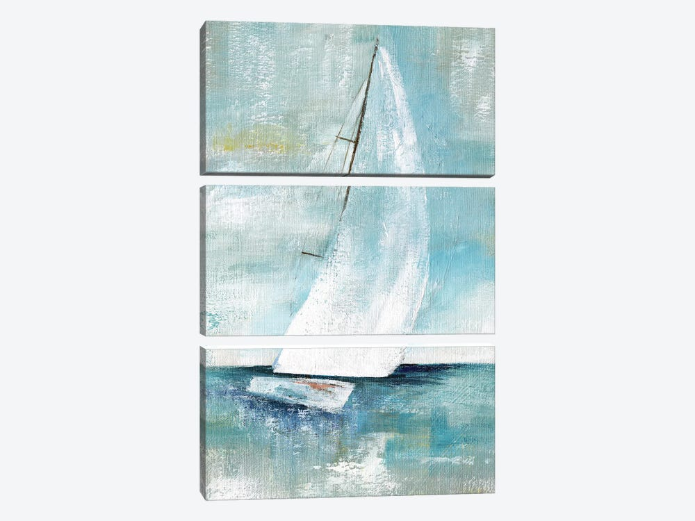 Come Sailing I by Nan 3-piece Canvas Print