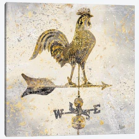 Americana Rooster Canvas Print #NAN28} by Nan Canvas Art Print
