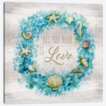 Love Beach Wreath Canvas Print #NAN295} by Nan Canvas Wall Art