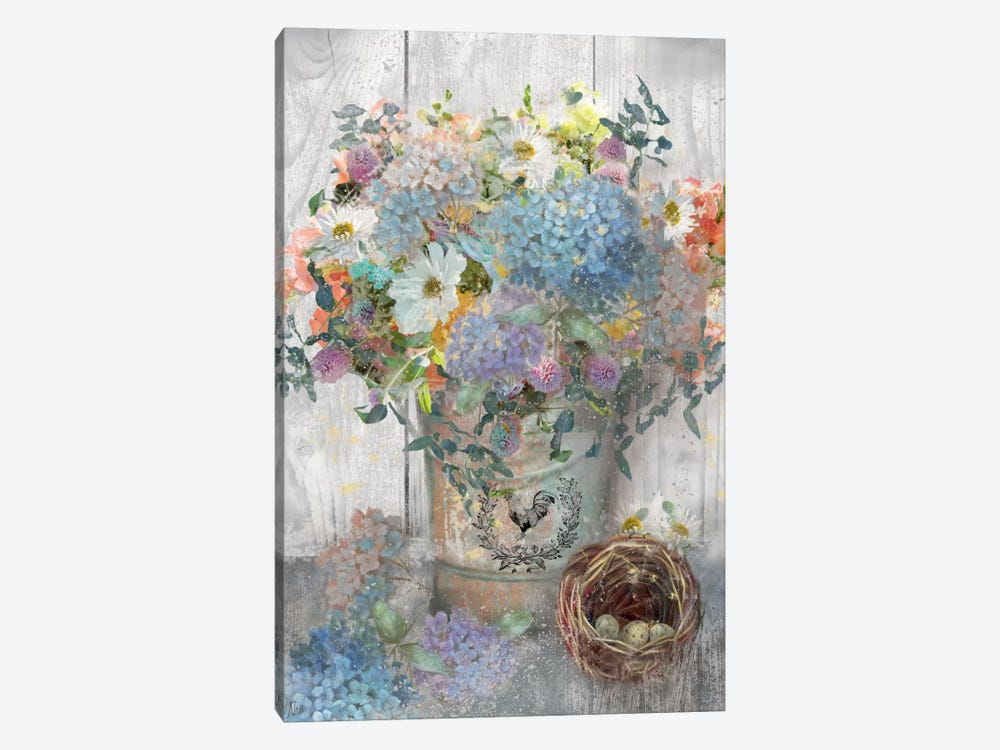 Bucket Of Flowers I by Nan 1-piece Art Print