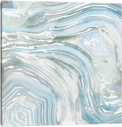Agate in Blue II Canvas Print #NAN2