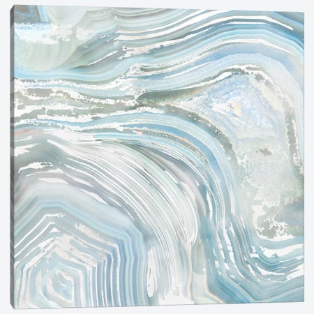 Agate in Blue II Canvas Print #NAN2} by Nan Canvas Art Print