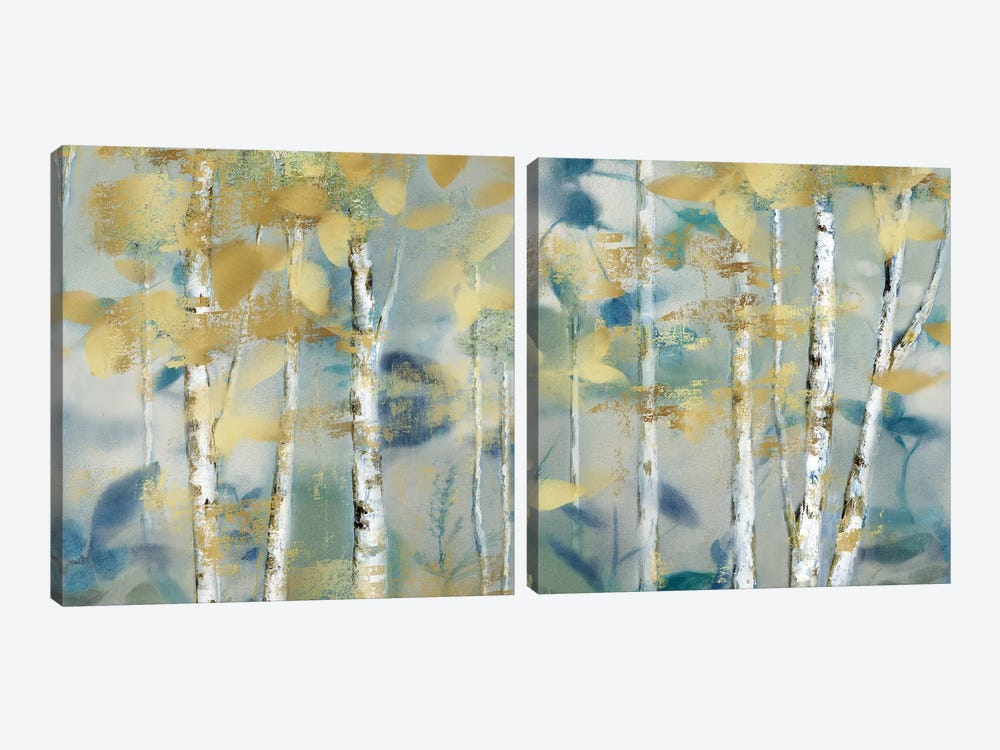 Gilded Forest Detail Diptych by Nan 2-piece Canvas Art Print