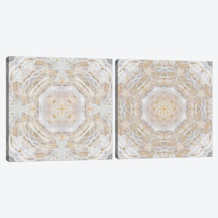 Light Metallic Kaleidoscope Diptych Canvas Print Set #NAN2HSET004} by Nan Canvas Art