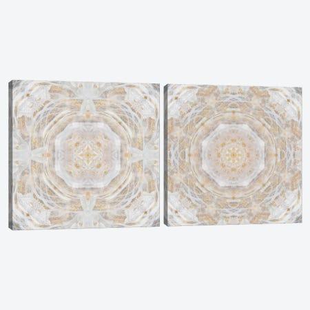 Light Metallic Kaleidoscope Diptych Canvas Print Set #NAN2HSET004} by Nan Canvas Art