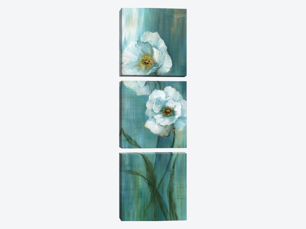 Seabreeze Poppy II by Nan 3-piece Canvas Print