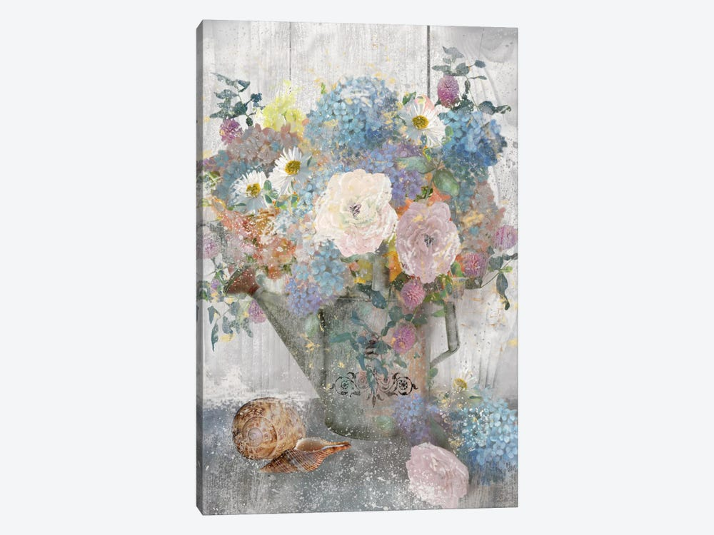 Bucket Of Flowers II by Nan 1-piece Art Print