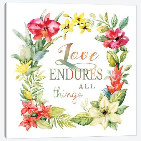 Tropic Love Wreath Canvas Print #NAN313} by Nan Canvas Wall Art