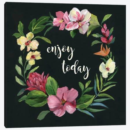 Tropic Wreath Enjoy Today Canvas Print #NAN314} by Nan Canvas Print