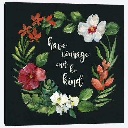 Tropic Wreath Have Courage 3-Piece Canvas #NAN315} by Nan Canvas Art Print