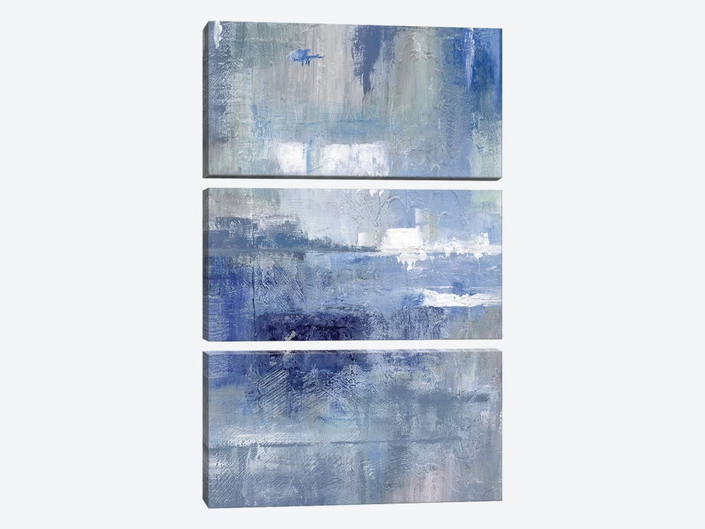 Bay View Indigo by Nan 3-piece Canvas Wall Art