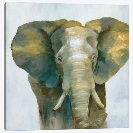 Jade Elephant Canvas Print #NAN332} by Nan Canvas Artwork