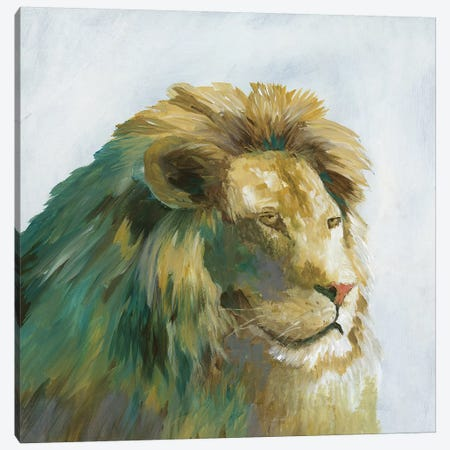 Jade Lion Canvas Print #NAN333} by Nan Canvas Wall Art