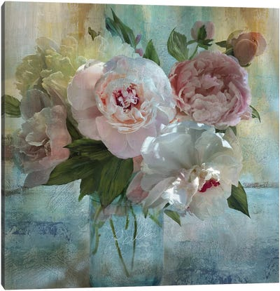 Peony Bouquet I Canvas Art Print