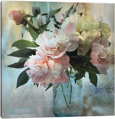 Peony Bouquet II Canvas Art Print