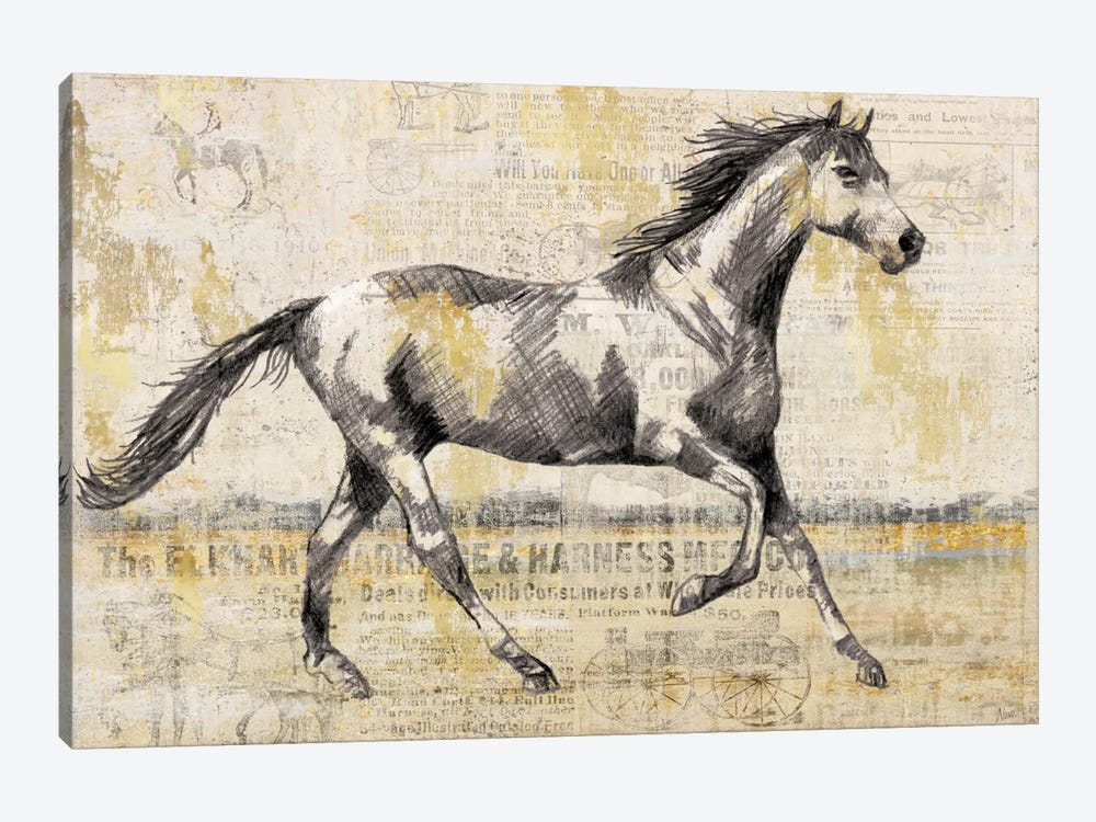 Golden Stallion I 1-piece Canvas Art Print