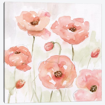 Spring Poppies I Canvas Print #NAN353} by Nan Canvas Wall Art