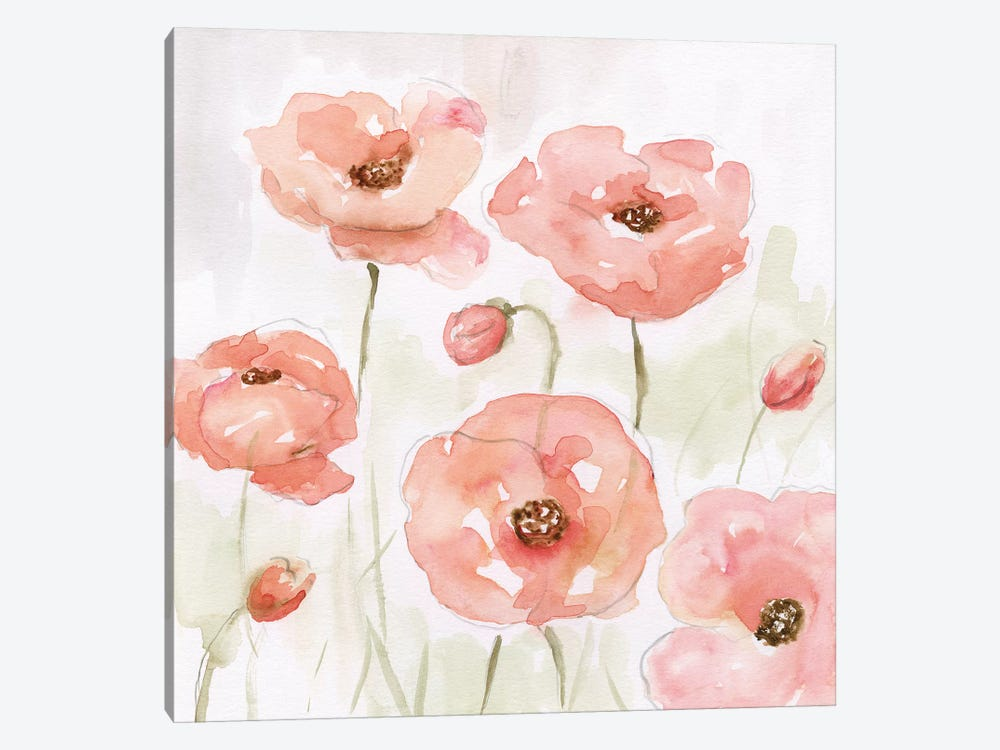 Spring Poppies I by Nan 1-piece Canvas Art