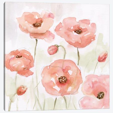 Spring Poppies I Canvas Print #NAN353} by Nan Canvas Wall Art